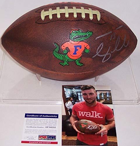 Tebow Gators Tim Florida - Tim Tebow Autographed Hand Signed Florida Gators Vintage Full Size Logo Football - PSA/DNA