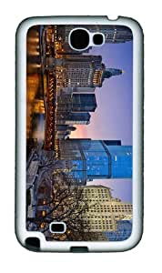 case grove chicago illinois night TPU White case/cover for samsung galaxy N7100/2