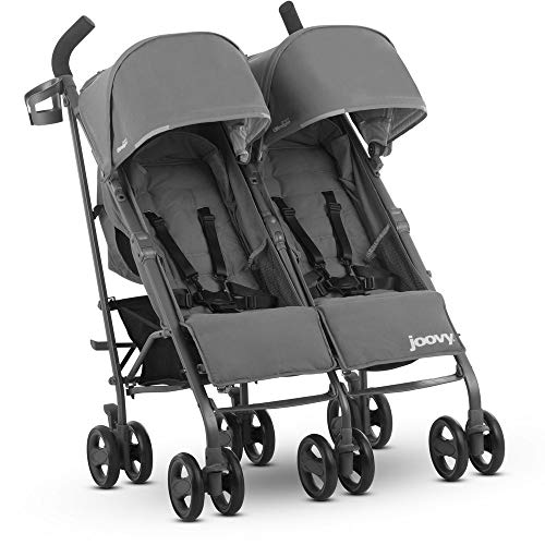 - JOOVY Twin Groove Ultralight Umbrella Stroller, Charcoal