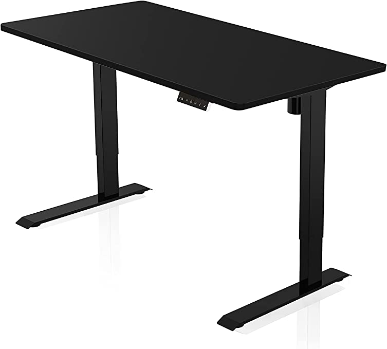 Agil Ergonomic Desk Electric Height Adjustable Black Frame With Black Tabletop Amazon Co Uk Kitchen Home