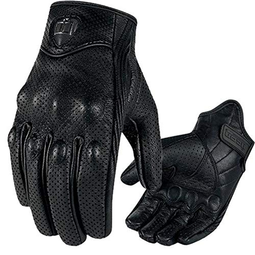 Motorcycles Gloves Guantes Touch Screen Racing Gloves Genuine Leather Winter Luvas,Perforation,M