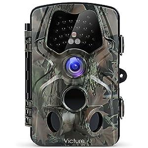 Victure トレイルカメラ 人感センサー 防犯カメラ 1200万画素 1080P フルHD 120°検知範囲 監視カメラ