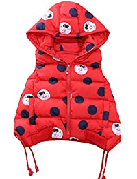 Mallimoda Girls Thick Hooded Down Vest Puffer Jacket Waistcoat