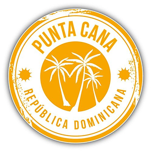 (innagrom Punta Cana Dominican Republic Grunge Stamp Home Decal Vinyl Sticker 5'' X 5'')