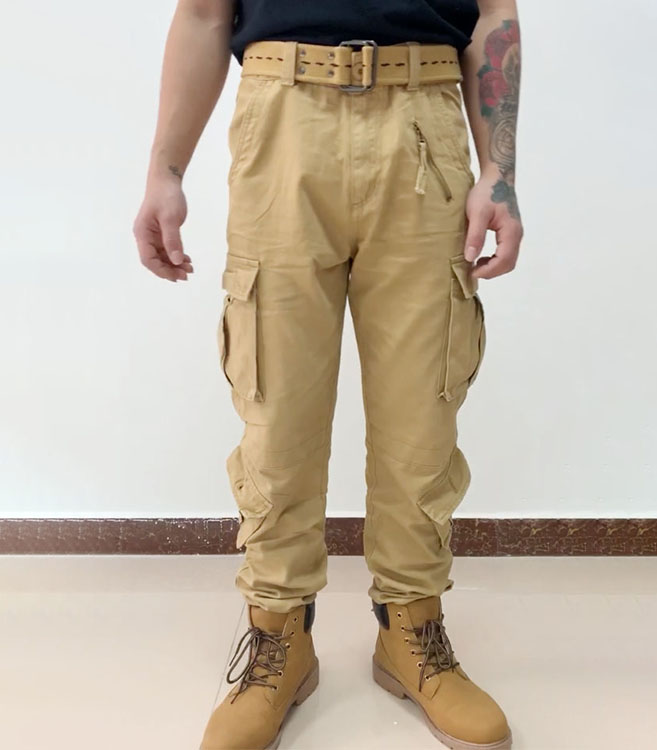 AKARMY Men's Cotton Casual Military Army Camo Combat Work Cargo Pants with 8 Pockets