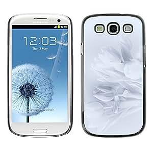 TopCaseStore / la caja del caucho duro de la cubierta de protección de la piel - Petals Snowdrop Petal Shadow Subtle - Samsung Galaxy S3 I9300