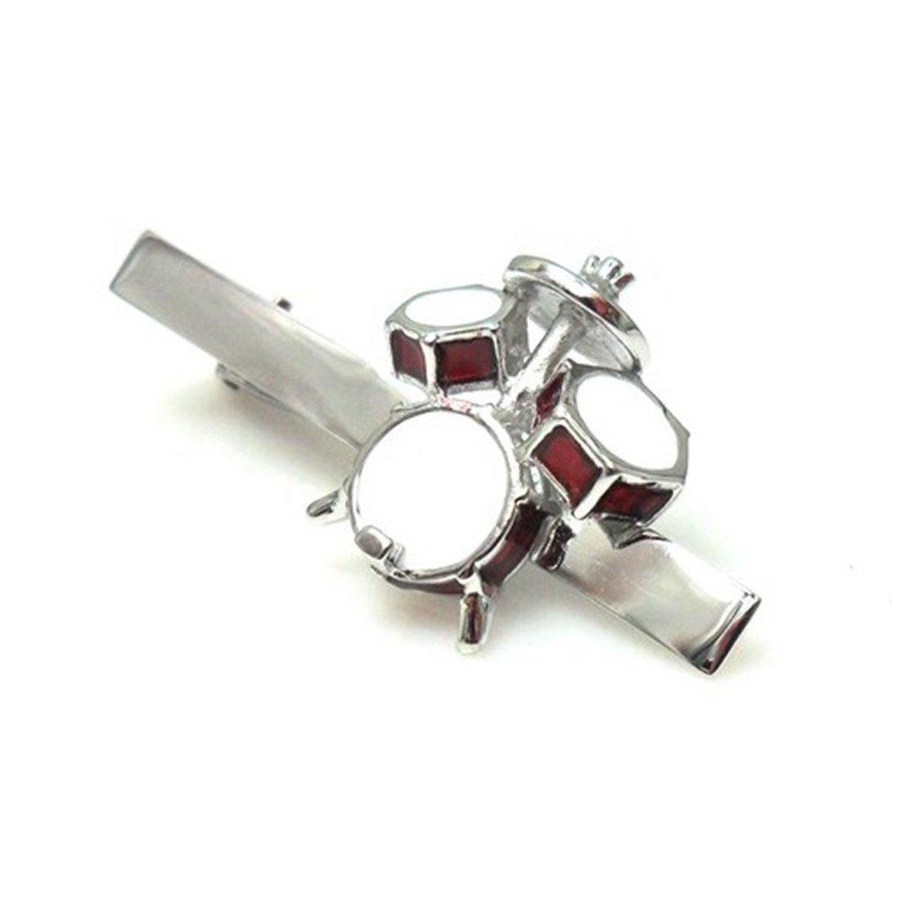 Drum Set Drummer Gift Band Rock N Roll Music Tie Clip Wedding Bar Clasp