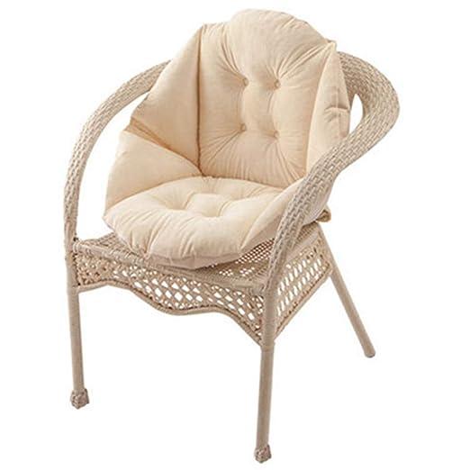 HB.YE Cojín para sillas de jardín, Cojín del Asiento con Respaldo, Cojines Decorativos para el hogar, Oficina, salón, Regalos, Felpa, Cocina, jardín, ...