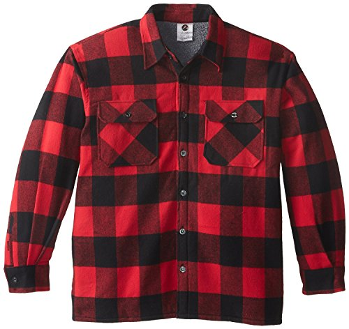 Buffalo Plaid Sherpa Lined Jacket, Red, Small
