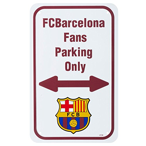 Barcelona Fans Parking Only Sign (27cm x 17cm) - One (1 Fan Sign)