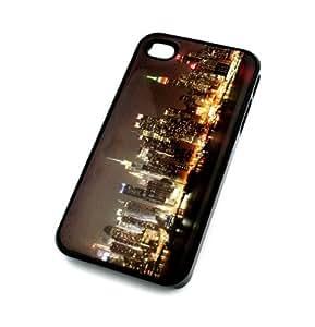 BLACK Snap On Case iphone 6 4.7 Plastic Cover - NEW YORK CITY SKYLINE NYC la paris buildings concrete jungle lights