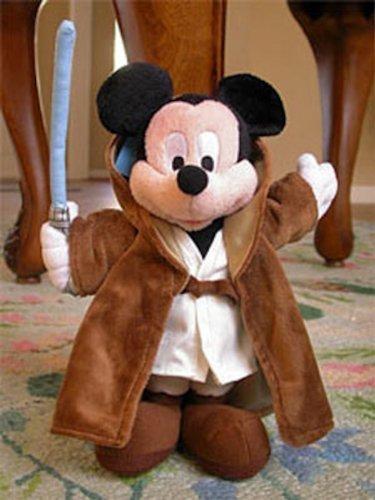 "Disney Star Wars Mickey Mouse Jedi 11"" Plush"