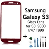 Red Samsung Galaxy S3 Replacement LCD Screen Glass Lens i9300 I747 T999 RED
