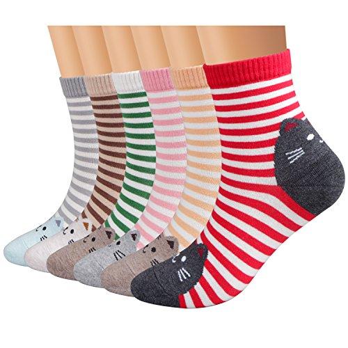 Ofeily Women Socks Cotton Casual Funny Cute Animal Patterned Socks (ZYX-00103F)