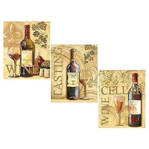 3 wine grape art prints tuscany posters kitchen decor art poster print by ron jenkins 8x10