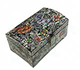 Mother of Pearl Flower Design Jewelry Box Nacre Najeonchilgi Master Handcrafted Jewellry Case