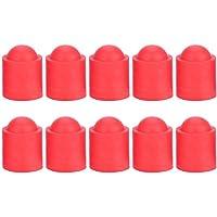 Alomejor 10 unids Pool Cue Caps Cubierta de Goma Cue Billiards Cues Stick Protección Cap para Pool Billiards Accesorios