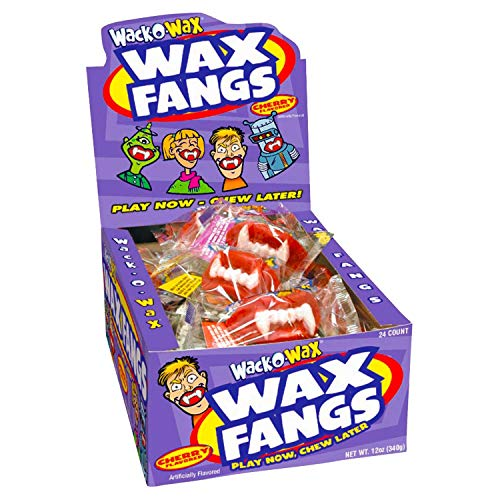 Wack-O-Wax Wax Fangs 24-Count Box, Cherry Flavor]()