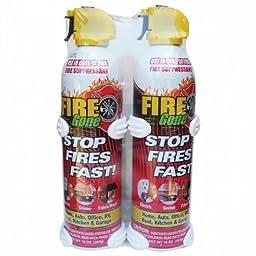 FIRE GONE 2-FG-7209 16-oz Fire Gone Suppressant with Bracket, 2 pk