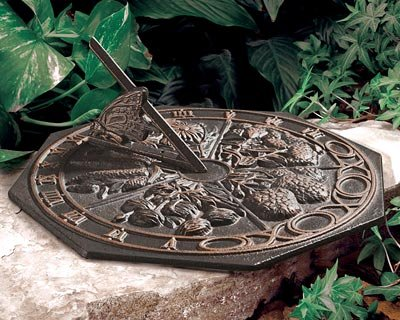 Whitehall Products Butterfly Sundial, Oil Rub Bronze