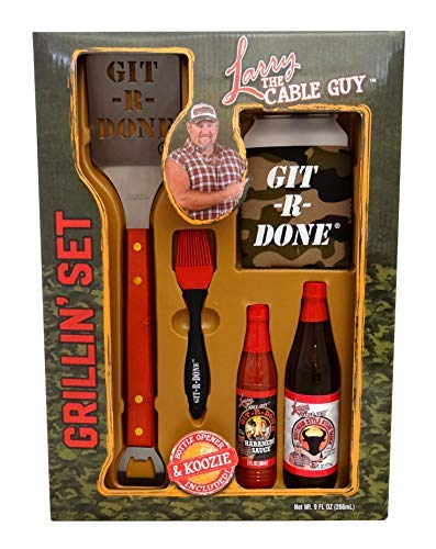 Larry The Cable Guy Holiday Grillin Set, Bring The Red Neck Out Git R - Bbq Set Gift Sauce
