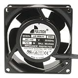 Fulltech Electric UF80A11BWH-R AC Tubeaxial Fan, 120V, 30 CFM, 38 mm H x 80 mm L x 80 mm W