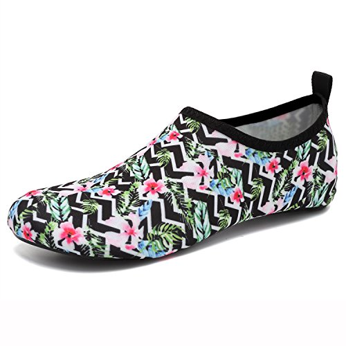 Shoes Black Men Flower Women for Snorkeling Beach Shoes Yoga Swim EASTSURE Socks Water Surf Aqua Sport 68wqnSZxI