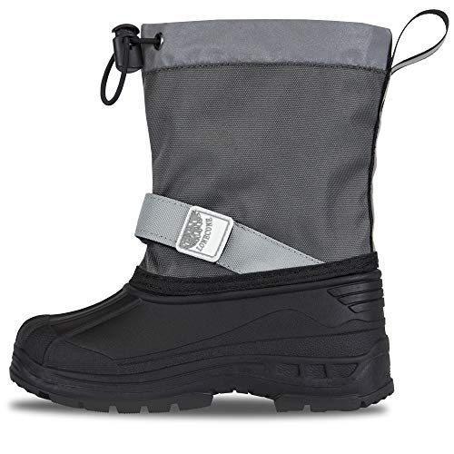 Price comparison product image LONECONE Waterproof Snow Boots for Kids and Toddlers, Black/Grey, Little Kid 11