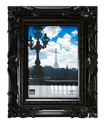 Kiera Grace Virginia Ornate Picture Frame, 5 by 7-Inch, -
