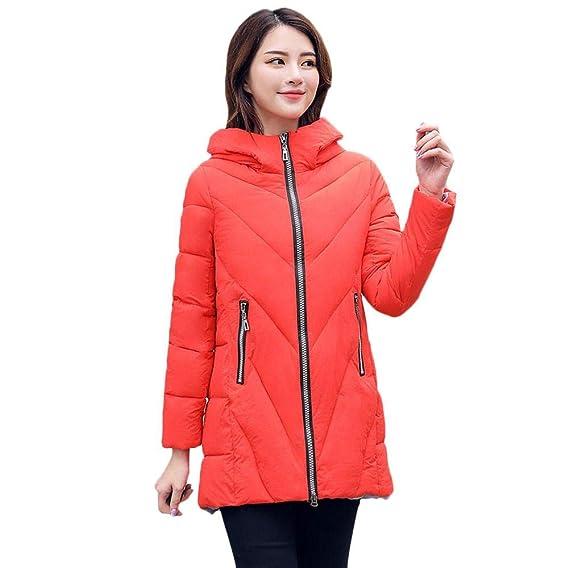 TWBB Damen Winter Warme Einfarbig Daunenjacke Winterjacke