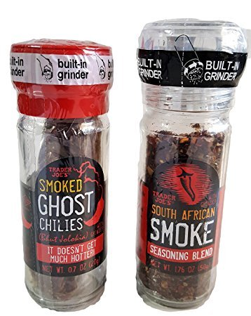 Trader Joe's Ghost Chili's and South African Smoke Seasoning Gift Set 2 Piece Bundle ()
