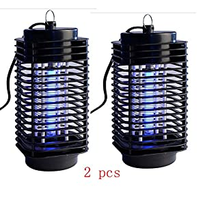 NEW 2 x Electric Mosquito Fly Bug Insect Zapper Killer Trap Lamp 110V Stinger Pest High Safety