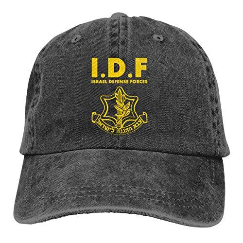 IDF Israel Defense Forces Baseball Cap Vintage Dad Hat Adjustable Polo Trucker Unisex Style Headwear Black