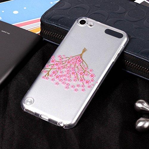 iPod Tpu Cover Séries Beau for Souple Cas Apple Premium Etui 6 Transparente Violet 5 Apple 5 Fleur Sycode Housse Ultra Touch for Mince Fleur Fleur Couverture iPod Silicone Apple Rose 6 for pour Coque Motif Touch qaxAvwpUA