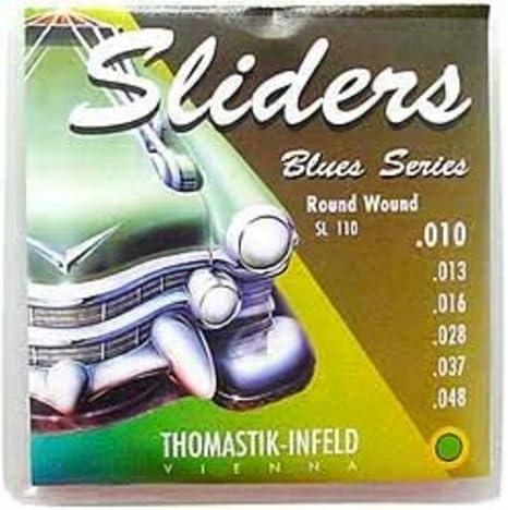 Amazon.com: CUERDAS GUITARRA ELECTRICA - Thomastik (SL110) Sliders Blues Guitar (Juego Completo 010/048E): Musical Instruments