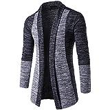 Farjing Jacket for Men,Clearance Sale Mens' Autumn Winter Sweater Cardigan Knit Sweatshirt Knitwear Coat Jacket(2XL,Dark Gray