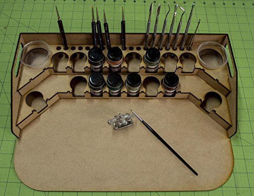 GameCraft Miniatures Painting Station - 34mm for GW, Citadel, Model Master, etc