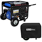 10000 Watt Gas Generator - DuroMax XP10000E, 8000 Running Watts/10000 Starting Watts, Gas Powered Portable Generator (NewBundle)