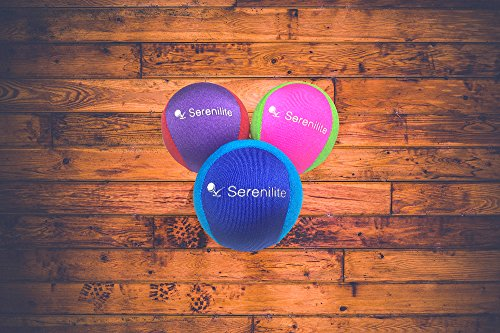 Serenilite Stress Ball & Hand Therapy Gel Squeeze Ball - Great for Hand Exercises and Strengthening - Optimal Stress Relief - Dual Color (Ocean Breeze) by Serenilite (Image #9)