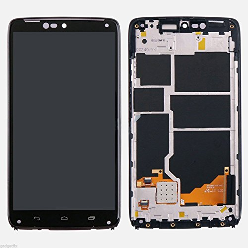 KNONEW For Motorola Droid Turbo XT1254 LCD Display Touch Screen Digitizer Assembly Replacement +Frame Tools(Black) by KNONEW (Image #1)
