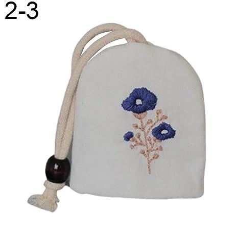 P12cheng - Monedero para niña con bordado de flores ...