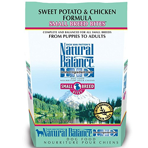 Natural Balance Small Breed Bites L.I.D. Limited Ingredient Diets Sweet Potato & Chicken Formula Dry Dog Food, 4.5-Pound