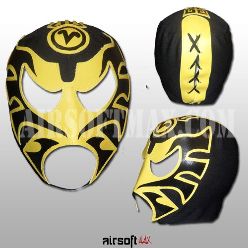 Amazon.com : Airsoft-Max Ultimo Guerrero Mexican Luchador Mask for Kids in Black-Mascara para ninos : Wrestling Equipment : Sports & Outdoors