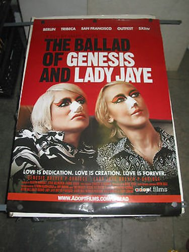 BALLAD OF GENESIS AND LADY JAYE/ORIG U.S ONE SHEET MOVIE POSTER (DOCUMENTARY) (The Ballad Of Genesis And Lady Jaye)