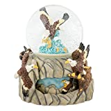 Soaring Eagle Over Water 100mm Resin Water Globe Plays Tune America the Beautiful