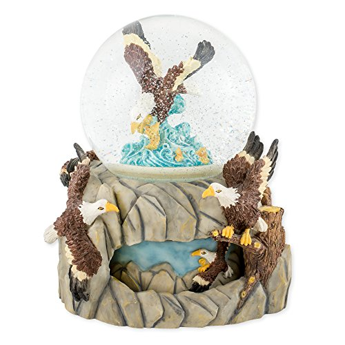 - Soaring Eagle Over Water 100mm Resin Water Globe Plays Tune America the Beautiful