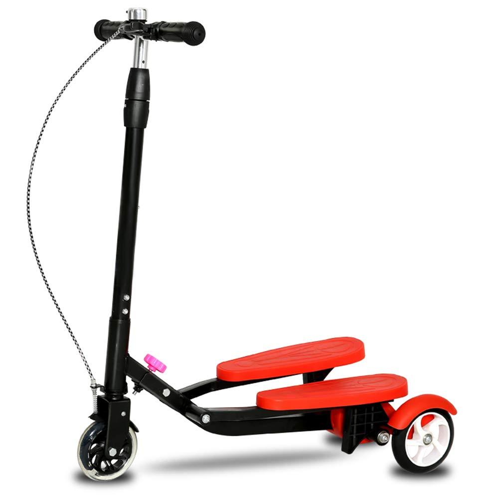 宅配 キックスクーター三輪車スケートボードペダル式乗用スタントスクーター調節可能な折りたたみTバーハンドルLEDライトアップホイール付き Red B07HCKPDYQ B07HCKPDYQ Red Red Red, ギフト通販ハピトラ:d3f3c758 --- a0267596.xsph.ru