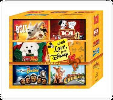 101 DALMATIANS, THE SEARCH FOR SANTA PAWS, SPACE BUDDIES, BOLT, EVERLY HILLS CHIHUAHUA (Santa Buddies The Search For Santa Paws)