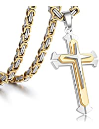 Trendsmax Jewelry Stainless Steel Cross Pendant Necklace...