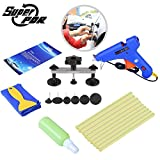 Super PDR 14Pcs Auto Car Body Paintless Dent Removal Repair Tool Kit Bridge Puller Sets with Hot Melt Glue Gun & Glue Sticks